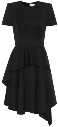 Alexander McQueen Asymmetric wool minidress