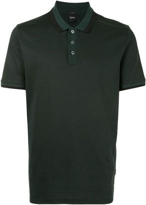 HUGO BOSS Short-Sleeved Button-Up Polo Shirt