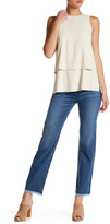 Theory Ossella Carlisle Frayed Hem Straight Jean