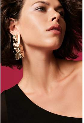 Dynamite Textured Statement Earrings Gold