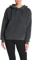 Zella Z By Rare Form Faux Shearling Pullover Hoodie