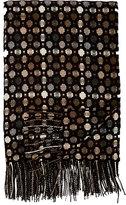 Barneys New York Geometric-Pattern Cashmere Throw-BROWN
