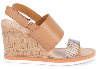Dolce Vita Lily Cork Wedge Slingback Sandals