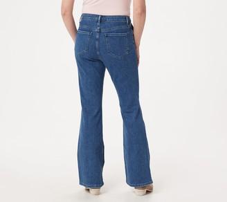 BROOKE SHIELDS Timeless Petite Flare Jeans- Indigo