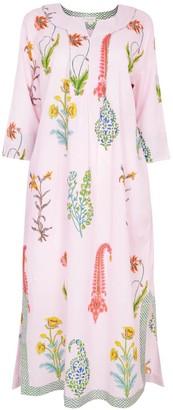 Nologo Chic Botanical Maxi - Pure Cotton - Dusky Pink