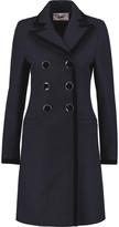 Goat Cavendish velvet-trimmed wool and cotton-blend coat