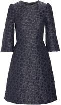 Co Flocked Metallic Jacquard Mini Dress - Storm blue