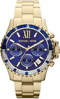 Michael Kors Mid-Size Golden Stainless Steel Everest Chronograph Glitz Watch