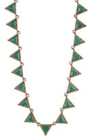 House Of Harlow Native Legend Collar Necklace Malachite