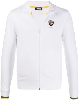Blauer Embroidered Badge Zip-Up Sweatshirt