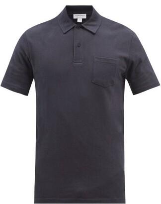 Sunspel Riviera Cotton-pique Polo Shirt - Mens - Navy