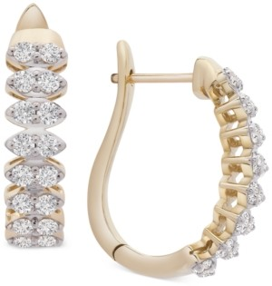 Wrapped in Love Diamond Marquise-Style Hoop Earrings (1 ct. t.w.) in 14k Gold, Created for Macy's
