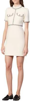 Sandro Arielle Tweed Mini A-Line Dress