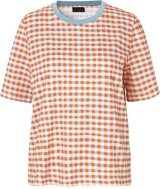 Stine Goya Leonie Tee in Gingham Clay