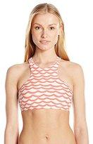 Seafolly Women's Tidal Wave High Neck Bikini Top