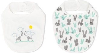 Stella McCartney Kids Two-Pack Rabbit-Pattern Bibs