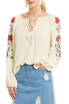 GB Embroidered Peasant Top