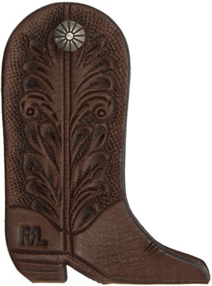 Ralph Lauren RRL Brown Leather Boot Keychain