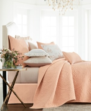 Hotel Collection Classic Roseblush Full/Queen Coverlet, Created for Macy's Bedding