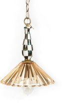 Mackenzie Childs MacKenzie-Childs Amber Courtly Check Ballerina 1-Light Pendant