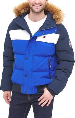 Tommy Hilfiger Men's Arctic Cloth Quilted Snorkel Bomber Jacket