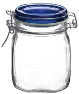 Bormioli Fido Set of 12 .75 Liter Canning Jar with Blue Lid