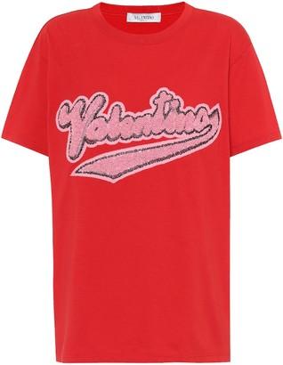 Valentino Embellished cotton T-shirt