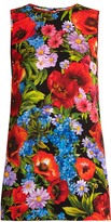 Dolce & Gabbana Floral-print stretch-silk top