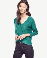Ann Taylor Extrafine Merino Wool V-Neck Sweater