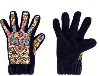 Paria Farzaneh Iranian Print Fleece Gloves in Multi   FWRD