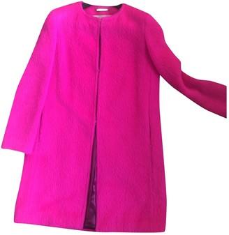 Francesco Scognamiglio Pink Wool Coat for Women