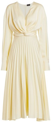Magda Butrym Milano Pleated Silk Midi Dress