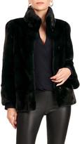Gorski Chevron Mink Fur 3/4-Sleeve Jacket