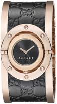 Gucci Women's YA112438 Twirl Analog Display Swiss Quartz Black Watch