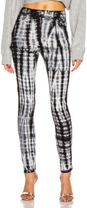 Frankie B. Mariah High Rise Skinny in White & Black Tie Dye | FWRD