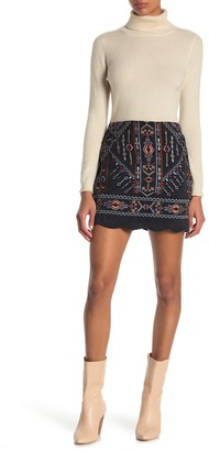 Blu Pepper Embroidered Mini Skirt