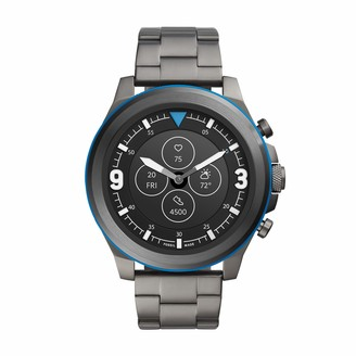 Fossil Men's 50MM Latitude HR HR Heart Rate Stainless Steel and Silicone Hybrid HR Smart Watch
