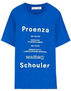 Proenza Schouler Pswl Printed Cotton-jersey T-shirt