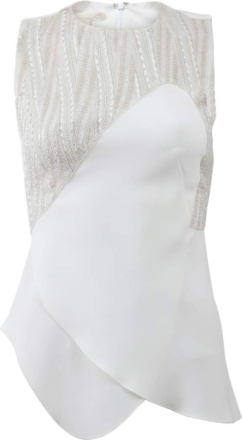 Antonio Berardi Beaded Curved Seam Top