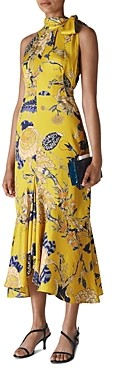 Whistles Peria Exotic Floral High Neck Dress