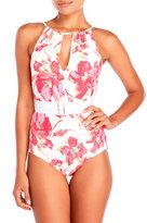 Carmen Marc Valvo Caribbean Breeze Elizabeth High Neck One-Piece Swimsuit