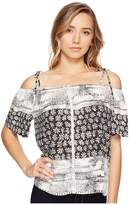 Michael Stars Charlotte Print Off the Shoulder Top Women's Clothing