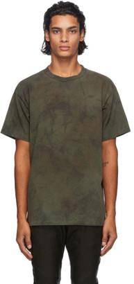 John Elliott Khaki Tie-Dye University T-Shirt