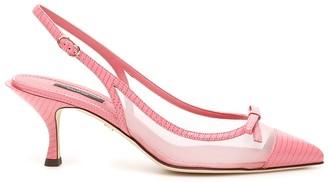 Dolce & Gabbana Bow Detail Slingback Pumps