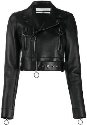 Off-White Arrows cropped biker jacket