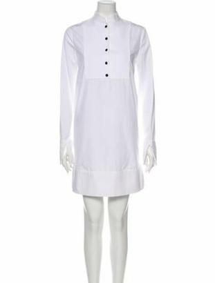 Alexander McQueen Mock Neck Mini Dress White
