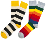 Etiquette Clothiers Multi Stripes Mid-Calf Socks (2 PK)