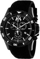 Jivago Ultimate Mens Black Dial Black Silicone Strap Watch