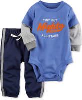 Carter's 2-Pc. Cotton Layered-Look Bodysuit & Pants Set, Baby Boys