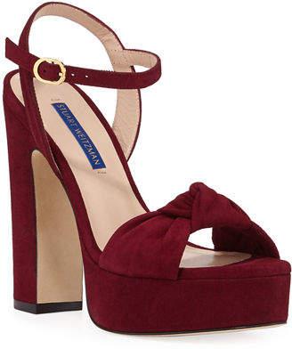 Shopstyle Sandals Weitzman Heel Stuart Women's Red Block 3JuT1lFcK